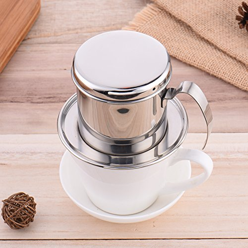 Stainless Steel Coffee Percolator Pour Over Coffee Drip Filter Coffee Maker Pot Single Cup Coffee Dripper 51J953kUnjL