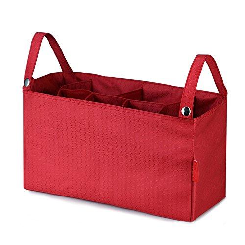 Tofern Wickelhenkeltaschen Wickelumhängetaschen Auskleidungsbeutel für Kinderwagen, Gelbrot Rot