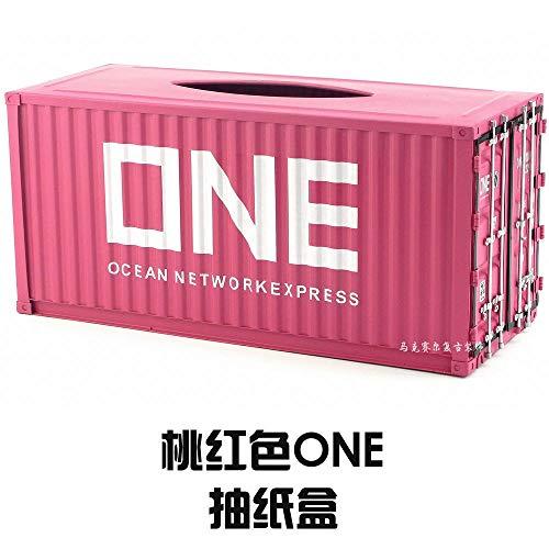 Joeesun Tissue Box American kreative Retro-Zeichnung Box handgefertigten Schmiedeeisen-Container Modellierpapier Box dekorative Ornamente rosa ONE_ Pumpschale
