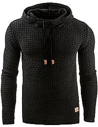timeless design 1b416 c64b6 Blansdi Sweat-Shirt à Capuche Homme Couleur Unie Pull Capuche à Manches  Longues Pull de