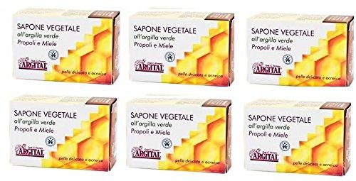 argital-savon-vegetal-a-largile-verte-propolis-et-miel-6-boites-de-100-gr-nettoyage-visage-pour-peau