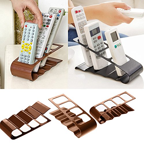 CONNECTWIDE® Remote Organizer Box Remote Control Holder Remote Stand Ideal for Remotes for AC, CCTV, TV, DVD, CD & Music System, Slim Design, Space Saving, Great for Your Coffee Tables, Office, Home, Living Room & Bedroom ,Color-Assorted Plastic Qty.(1 pcs) Size: 15*10*8 CM  available at amazon for Rs.399