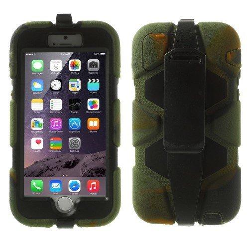 jbTec® Hardcase / Schutzhülle zu Apple iPhone 6 / 6s - STOßFEST - Schutzhülle, Handy-Hülle, Case, Farbe:Camouflage Camouflage