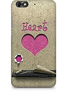 Amez designer printed 3d premium high quality back case cover for Huawei Honor 4C (Heart Paper Cutting)
