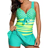 Luckycat Tankini Sets Damen Push Up Badeanzug Bikini mit Badehose Swimsuit Bademode Mode 2018