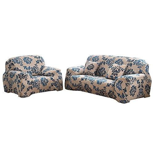 Copridivano in tessuto elasticizzato, per divano da 1-2-3-4 posti, provence, 3 posti
