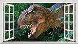 Dinosaurier 3D V004selbstklebend Magic Wandtattoo Fenster Poster Wall Art Größe 1000mm breit x 600mm tief (groß)