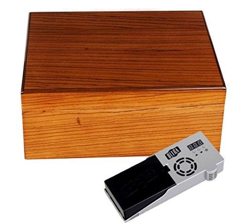 Cigar Oasis Ultra Savoy by Ashton Humidor Zebra Wood medium inkl. Lifestyle-Ambiente Tastingbogen