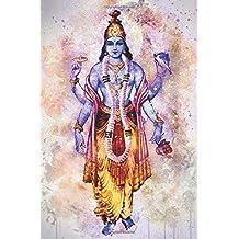 Watercolor Vishnu: Blank Lined Notebook, Journal or Diary
