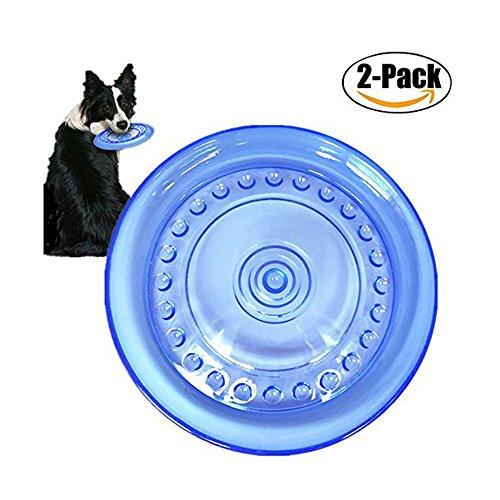 Famhome weiche Frisbee, fliegende Scheibe für Hund Kauspielzeug, 6,1 Zoll großen Hund Blau