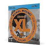D'Addario Cordes en nickel pour guitare électrique D'Addario EXL140, Light Top/Heavy Bottom, 10-52, 1 Jeux