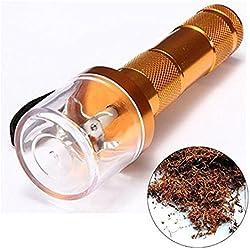Allloy électrique en métal Grinder Broyeur à manivelle Tabac fumée épices Herbes Muller Doré
