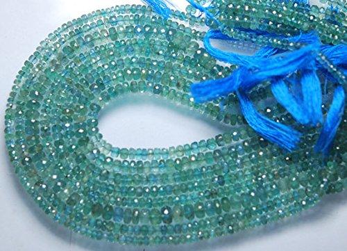 34,3cm, alessandrite colore verde smeraldo naturale sfaccettato rondelle, super grande dimensione 4-5mm