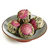 GOARTEA 12Pcs Natural Handmade Blooming Flowering Flower Artistic Chinese Green Tea Ball Tee