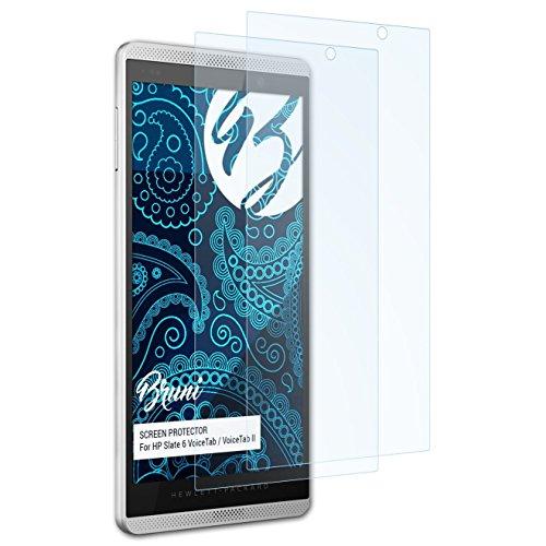 Bruni Schutzfolie für HP Slate 6 VoiceTab/VoiceTab II Folie, glasklare Bildschirmschutzfolie (2X)