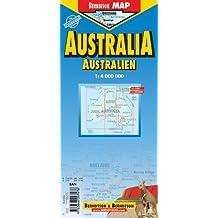 Australien: 1:4 000 000. Einzelkarten: Australia 1:4 000 000; Sydney 1: 500 000; Melbourne 1: 900 000; States & Territories, Zeitzonen