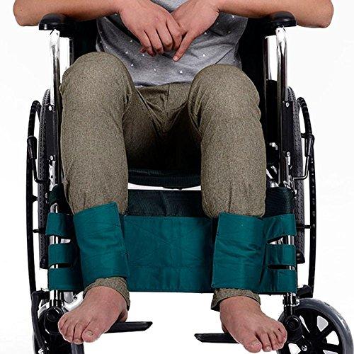 Sicherheits-Bein feste Gürtel für Roller oder Rollstuhl, mit Klettverschluss frei, um loszulassen, verhindern, dass Patienten aus kämpfen, grün (Rollstuhl-beine)