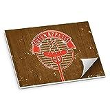 50x itenga Tischset BBQ rustikal DINA3 Papier Unterlage Platzset z.B. für Balkon Terasse Garten Grillparty rot braun