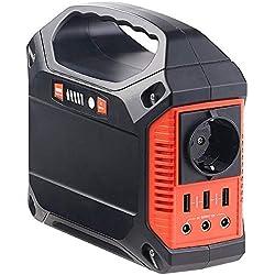 REVOLT Batterie Nomade 42 Ah & Convertisseur Solaire avec Prises 230 V / 12 V/USB