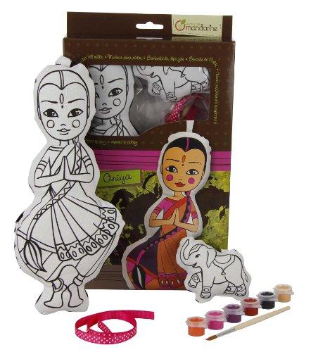 Avenue Mandarine 52490MD - Puppe zum Bemalen Indien Aniya