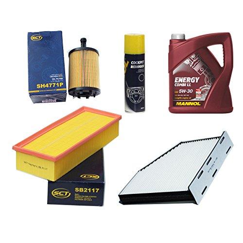 Inspektionspaket Filteristen Pollenfilter SCT Luftfilter Ölfilter Motoröl Geschenk