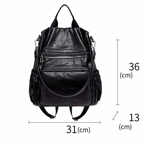 multifunktionale leder mit rucksack und weibliche leder diebstahlsicherung,brown schwarz