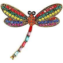 doitsa 1 pcs broche joyas creativa perla pedrería étincelants forma de libélula colorée decoración broche para