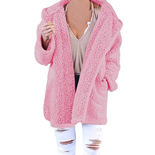 Paolian Vestes femme Sweat à Capuche en Laine Polaire Veste à Capuche, Veste en Tricot Chaud Confortable de Mode Automne(S/M/L/XL)