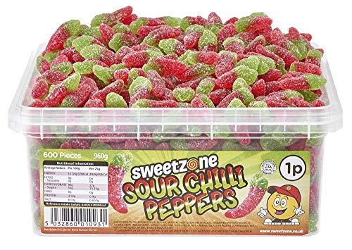 SweetZone 100% Halal Sour Chilli Peppers Candy ohne Schweinegelatine 1kg