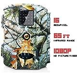 Olymbros Cámara de Caza 16MP 1080P IP66 Impermeable 24 LED de IR Invisible 2.4 '' LCD Visión Nocturna hasta 20m para Fauna Seguridad Hogar Mascota Animal (T3)