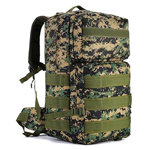 Protector Plus Borsa a tracolla tattica, zaino da trekking per backpacking ultraleggero per il campeggio, la caccia e gli sport all'aperto , D B