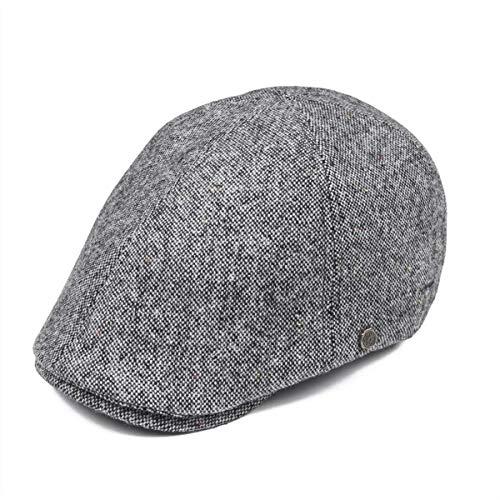 KDFLGE Hut Frauen Wolle Newsboy Hut 6 Panel Boy Ivy Flat Top Hat Barett, B Tweed Ivy Hat