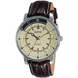 August Steiner AS8124TN - Reloj de cuarzo para hombres, color marrón