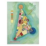 Bilderwelten Leinwandbild - Wassily Kandinsky - Bunt im Dreieck - Hoch 4:3 Leinwand Leinwandbild XXL Leinwanddruck Wandbild, Größe HxB: 160cm x 120cm
