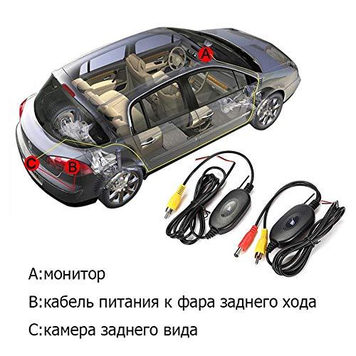 2,4 GHz Wireless Video Transmitter und Receiver Kit für Universal Car Reverse Rückfahrkameras und Monitore, die das Einparksystem umkehren, DC 12 V Universal Reverse-rückfahrkamera