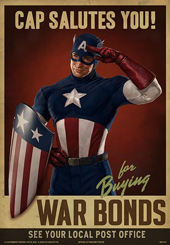 Captain America: The First Avenger Marvel Prop Posters