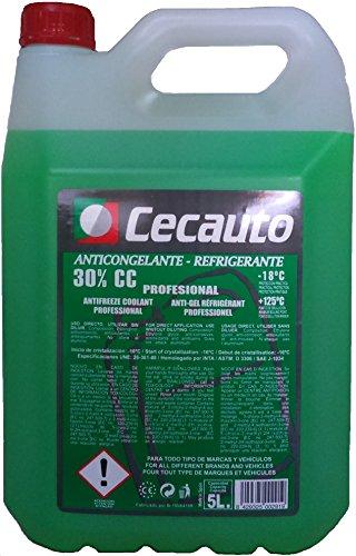 Cecauto 1006803052 – Anticongelante-Refrigerante 30%, Profesional, Verde, 5 litros