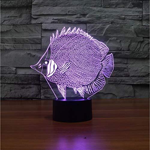 Abstrakte Fische 3d Lampe LED 7 Farbwechsel RGB Touch 5V USB schaltbare Tischlampe für Hauptdekorationen