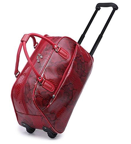 Big Handbag In volo Holiday Travel-Borsone per Weekend Borsa-Trolley bagaglio a mano Brown - Pattern