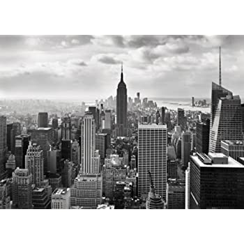 Wall Mural Photo Wallpaper NEW YORK CITY SKYLINE Black And White