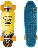 Globe Herren Bantam Evo Skateboard/cruiserboard, Yellow/Blue Maple, 24