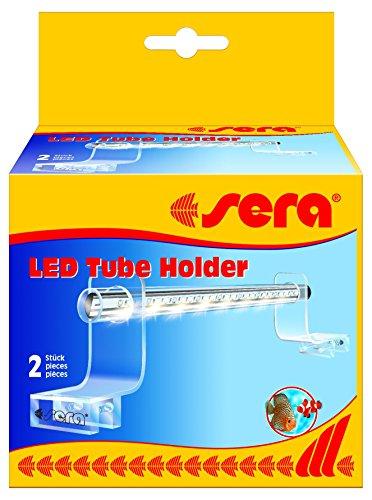 Sera 31292 LED Tube Holder Clear Acrylglashalterung, 2 Stück