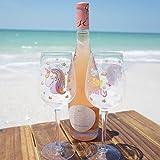 EinhornLiebe® Weingläser Set Einhorn Glas Bye Bye Reality Rotwein Weisswein 2 Stück im Geschenk Karton - 4