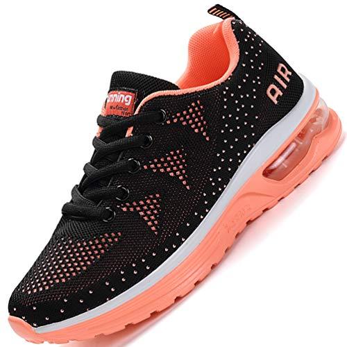 Flarut Unisex Uomo Scarpe da Ginnastica Corsa Sportive Fitness Donna Running Sneakers Basse Interior Air Casual all'Aperto(Arancione,40)