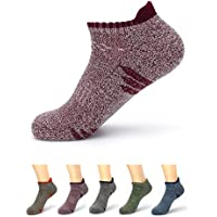 Waymoda 5 Pairs Unisex Low Cut Ankle Crew Socks, Outdoor