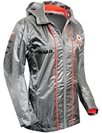 Vodafone McLaren Mercedes Teamwear Collection Women's Waterproof Grey Jacket New