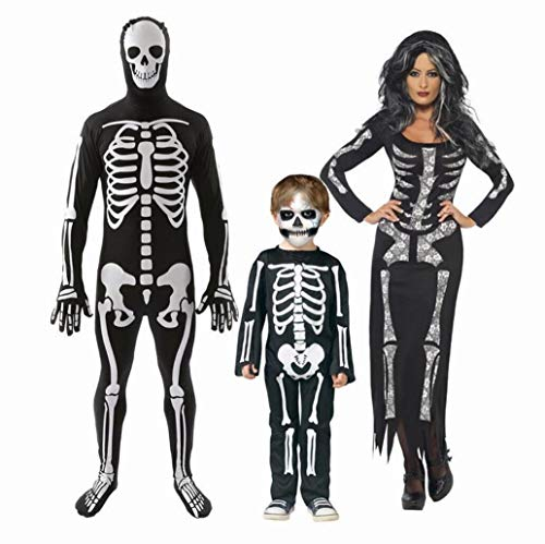 Z&X Frauen Halloween Knochen-A-Fied Babe Skelett Jumpsuit Kostüm/Halloween Kostüm Familie Papa, Mama, Kind/Halloween Ghost Doll,Baby,M