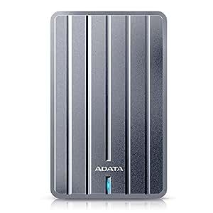 ADATA HC660 2TB Ultra-Slim and ELite Series External Hard Drive, Titanium