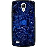 Carte mère Circuit Ordinateur Close Up Coque rigide pour téléphone portable, plastique, Blue Memory Technology Board, Samsung Galaxy S4 Mini (i9190)