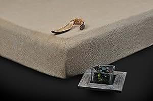 160x200 - 180x200 beige Spannbettlaken Spannbetttuch Frottee hohe Qualität andere Farben wählbar